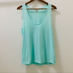 J.Crew Mint Green Scoop Neck Tank